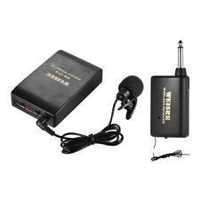 Lavalier Lapel Collar Clip-on FM Wireless Microphone System Voice Amplifier Mic