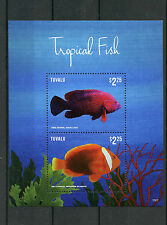 Tuvalu 2015 MNH Tropical Fish 2v S/S I Marine Fishes Grouper Clownfish
