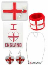 Zest 5 Pack England St George Sport Themed Necklace Tattoo Earrings Face Paint