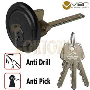 Rim Cylinder V5 Night Latch Door Lock Antique Black Yale Type 3 Keys