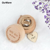 Rustic Ring Bearer Box Wooden Wedding Ring Box Bearer Pillow Box Wedding Favors