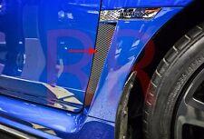 3D Carbon Fiber Fender Vent Overlay (Pair) for 2015 2016 Subaru WRX / STI