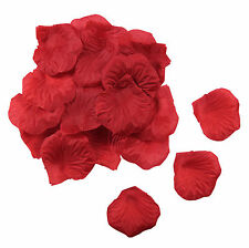 1000 x Red Silk Rose Flower Petals for Wedding Party Celebration Confetti