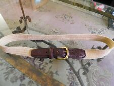 """Vintage Cole Haan Stretch and Leather Belt 36"""" to 40"""" by 1"""" Unisex"""