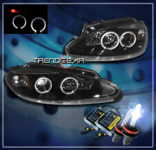 1998-2004 DODGE INTREPID HALO PROJECTOR HEADLIGHT+HID 8000K BLACK 2001 2002 2003