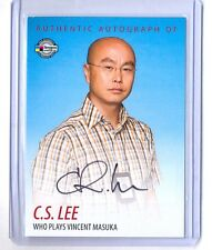 "C.S. LEE 2009 BREYGENT DEXTER ON CARD AUTOGRAPH WHO PLAYS ""VINCENT MASUKA"""