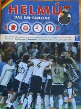 Programm Fan Magazin Helmut Deutschland - Frankreich EM-Halbfinale