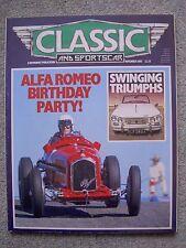 Classic & Sports Car (Nov 1985) Triumph Herald, Ginetta G4, Jarama, HRG, SS1
