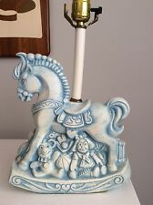 Rare Royal Haeger Rocking Horse Toy Lamp Artist Signed Richardson with Label