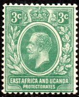 1921 East Africa & Uganda Protectorate Sg 66 3c green Mounted Mint