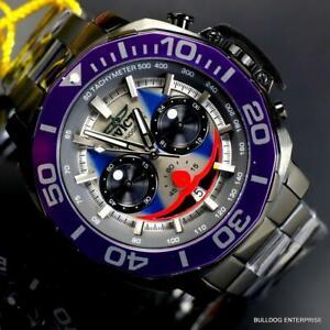 Invicta DC Comics Joker Purple Black Steel Chronograph Limited Ed Watch 52mm New