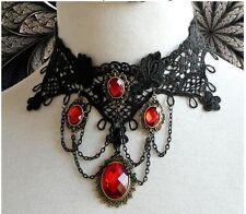 Gótico Victoriano Burlesque Encaje Gargantilla señoras collar Steampunk Halloween Goth