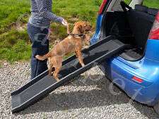 Easipet 21422 Plastic Folding Pet Ramp for Dogs - Black