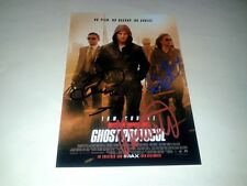 """MISSION IMPOSSIBLE 4 : GHOST PROTOCOL CAST X4 PP SIGNED 12""""X8"""" POSTER MI4 CRUISE"""