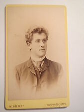 Dresden - Berlin - Hamburg ... - 1888 - Mann im Anzug - Portrait / CDV