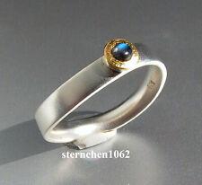 Einzelstück * Ring * 925 Silber * 24 ct Gold * Mondstein
