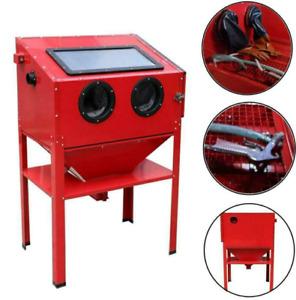 60 gallon 40 lb Sandblaster Sand Abrasive Cabinet w/ Gun/ Nozzles/ Gloves/ Hose