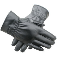 UK Women Thermal Lined Driving Smart Warm Soft Leather Gloves Button Fast P J9B6