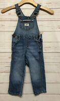 OshKosh B Gosh Girls 2T Overalls Skinny Denim Blue Pants Suspenders Bottom