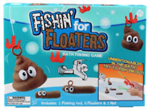 FISHING FOR FLOATERS  Kids or Adult Fun Bath Game Bathtime Novelty Gift Pranks