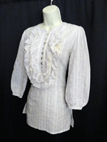 3J Workshop Johnny Was Cotton Tunic Top Embroidered Size S Small