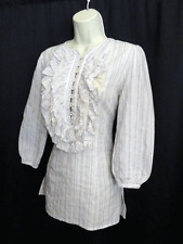 3J Workshop Johnny Was Cotton Tunic Top Embroidered S Small