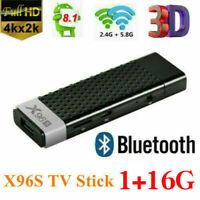 X96S 4K Android 9.0 Quad Core 4GB/32GB 2GB/16GB Smart TV Stick Box Media Player