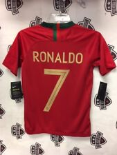 Cristiano Ronaldo 2018 Portugal World Cup Home Red Jersey Nike Youth Large