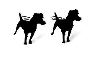 Patterdale Terrier Dog Cufflinks Novelty Shirt Cufflinks In Black