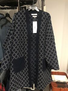 New Limited FDMTL Long Haori Coat Jacket Sashiko Indigo 4 XL