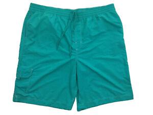 Men's 3XT Tall Caribbean Green-Aqua Swim Trunks Short