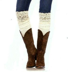 Over Knee Slouch Socks Ribbed Knit Confetti Dot Ivory Lace Tops Leg Avenue 6916
