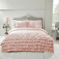 "Rapport ""Flamenco"" Frills, Ruffles Spanish Style Duvet Cover Bedding Set Pink"