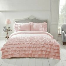 "Rapport ""Flamenco"" Frills, Ruffles Spanish Style Duvet Cover Bedding Set Pink"