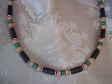 Hand Crafted 19 inch Unisex Wood Bead NECKLACE with MAGNETIC Clasp C-46