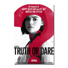 Blumhouse's Truth or Dare Horror Movie Lucy Hale Canvas Poster 12x18 24x36 inch