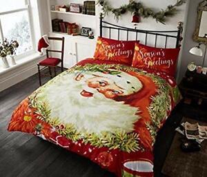 King Christmas Season Greetings Santa Duvet Set