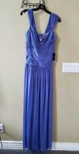 NEW ADRIANNA PAPELL CAP SLEEVE STRETCH TULLE GOWN - NWT - RETAIL $159.99