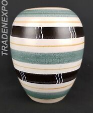 Vintage 60-'70s HALDENSLEBEN KERAMIK Vase 3117 East German Pottery Fat Lava Era