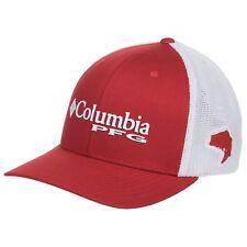 Columbia PFG Bass Sportswear Flexfit Fitted Ball Cap Hat in Red L/XL 7 - 7 3/4
