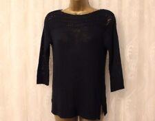 Ralph Lauren Ansaldi Long Sleeve Navy Knit Sweater Jumper Top XS UK 8 £125