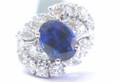 Vintage Platinum & Irid Tanzanite Diamond Multi Shape Ring 4.14Ct