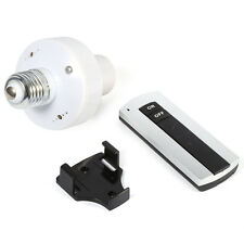 E27 220V Screw Wireless Remote Control Light Lamp Bulb Holder Cap Socket Switch