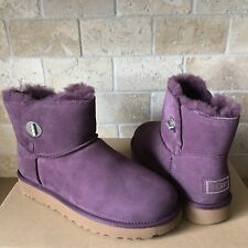 UGG Turnlock Bling Swarovski Crystal Port Suede Classic Mini Boots Size 9 Womens