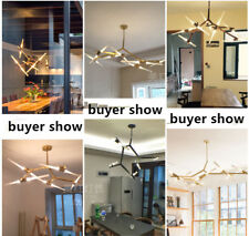6/10/14/20 glass Tube Chandelier LED Pendant Hanging Suspension lamp Ceiling