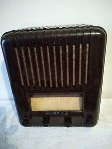 Vintage radio Healing 400z series 4valve battery radio 1940 fine order!