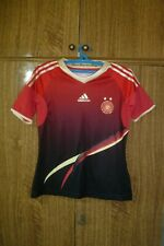Germany Adidas Football Shirt Away 2011/2012 Red Jersey Women Size S Ladies