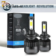 S2/H7 Waterproof 6500K 8000LM Car Driving LED Headlight High Low Bulb Turbo 36W