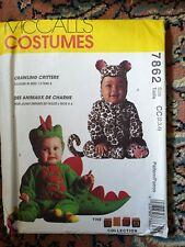 Mcalls Crawling CrittersToddlers sew Pattern leopard/dragon/dinosaur halloween