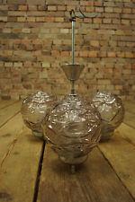 70er Deckenlampe Leuchte Lampe Retro Deckenleuchte Glas & Chrom Vintage 60er 1/2